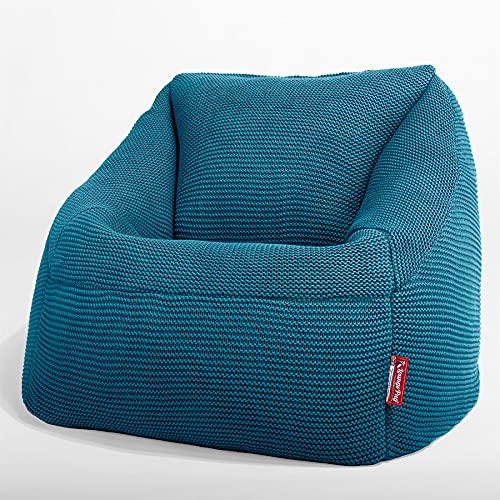 Lounge Pug - Ellos Punto Grueso - Puf Nautilus con Escabel - Puff Sillón - Azul petróleo