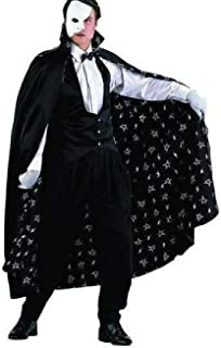 GHOST CAPE BLACK FULL LENGTH CAPE WOMEN COSTUME Halloween Cosplay FancyDress W14