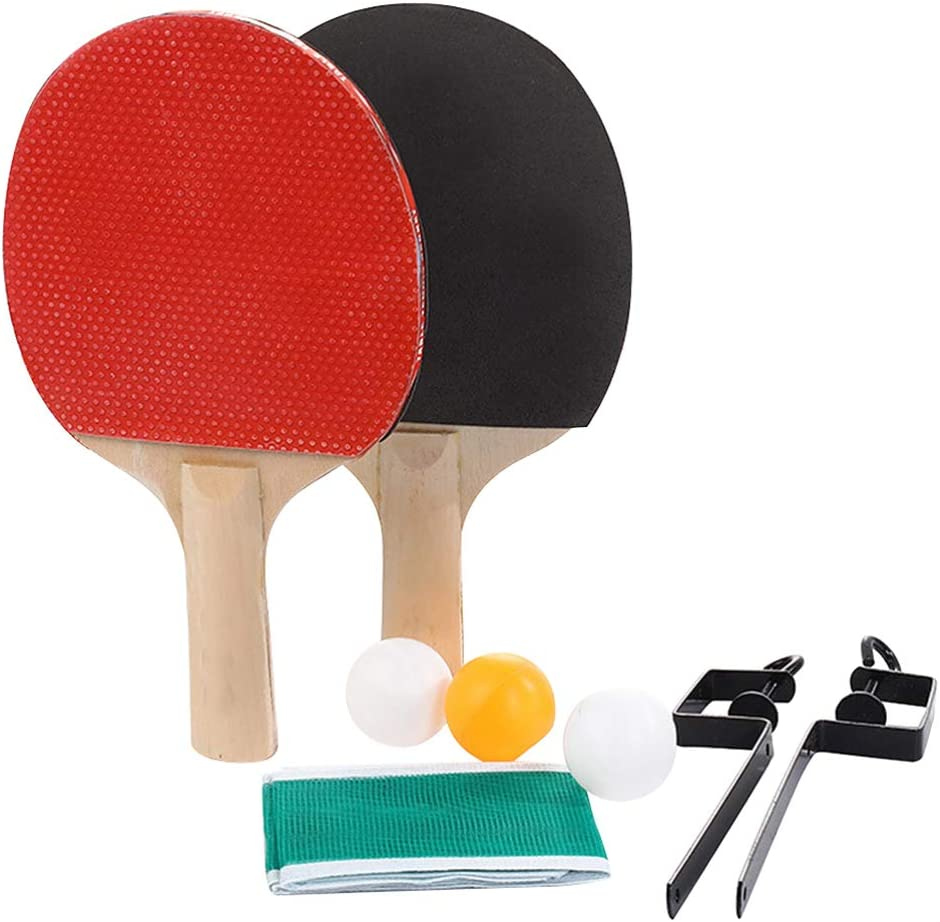 BESPORTBLE Pong Paddle Financial sales sale Table Tennis Racket Net Post Free shipping New wit Rack Set