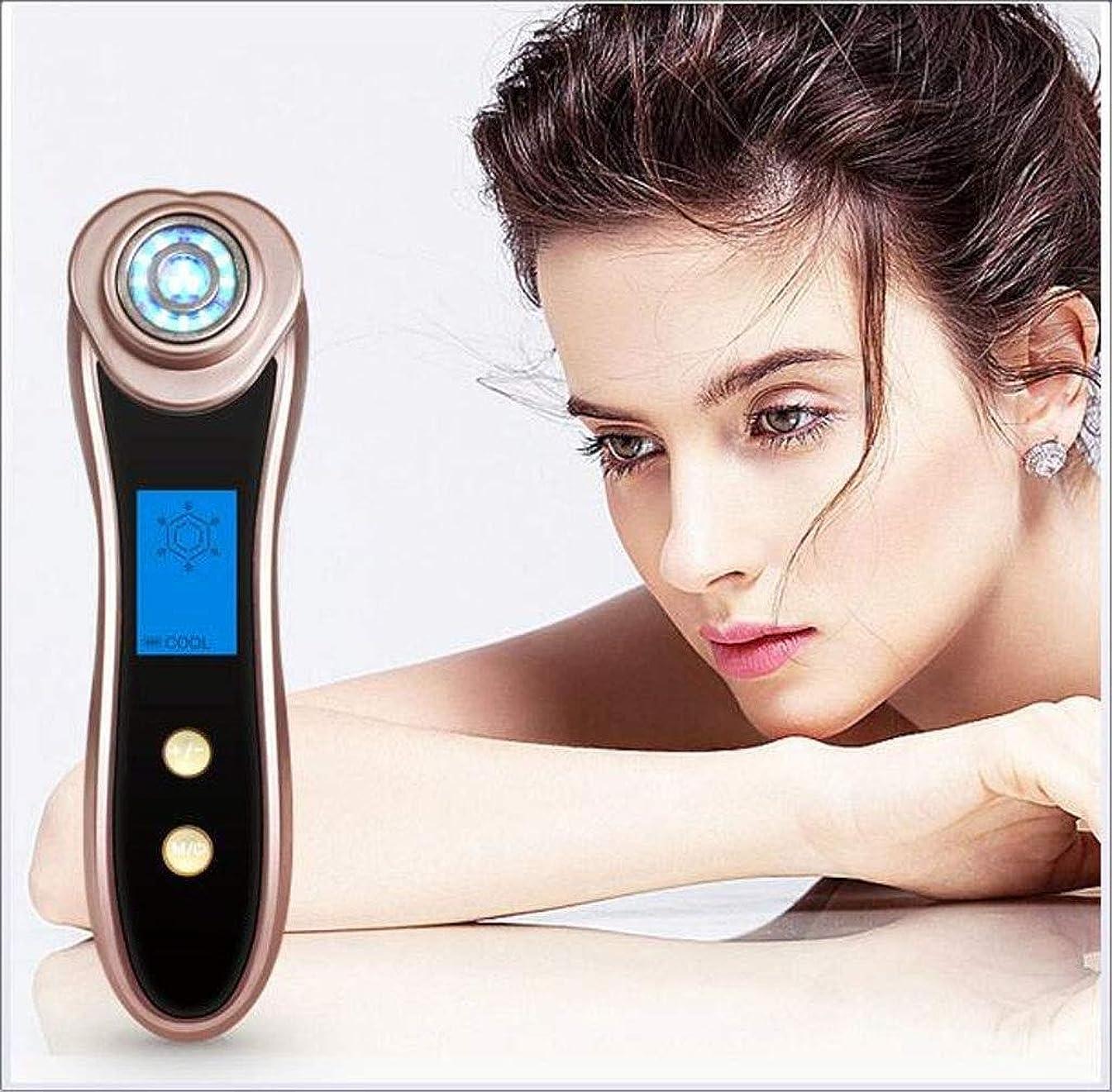 実際に保持するラウンジ表面マッサージャーの顔のクリーニングLEDライト振動美機械