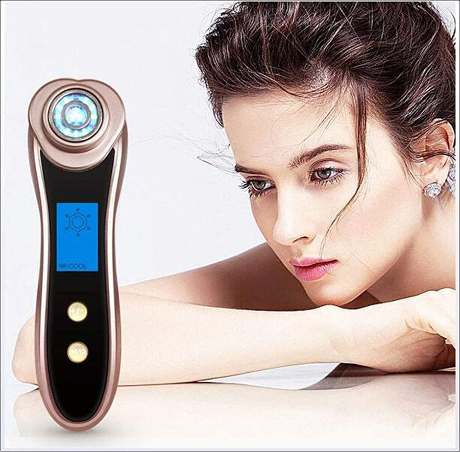 嫉妬レールトピック表面マッサージャーの顔のクリーニングLEDライト振動美機械