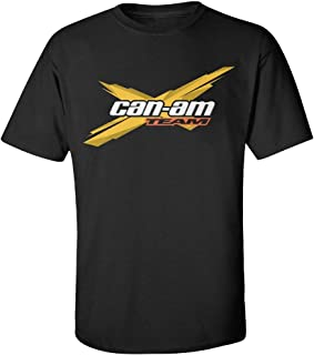 Men's Black Generic Cotton Can Am Spyder Roadster Snowmobile T Shirt