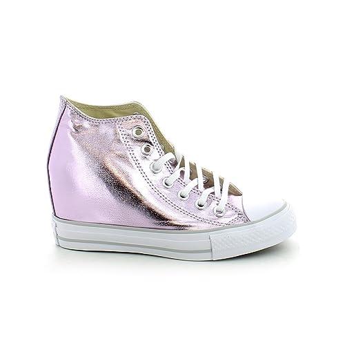 cb773aef0212 Converse Women s Chuck Taylor Lux Wedge Sneaker Metallic