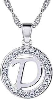 Initial Letter Necklace A to Z, 18K Gold/Platinum Plated Alphabet Charm,Personalized Necklace
