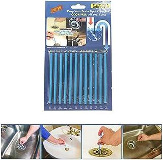 Sani Sticks GHONLZIN Palillos para desagüe,Cleaning Sticks, limpiador de desagües,mantiene las tuberías de desagüe limpias y libres de atascamientos (Azul)