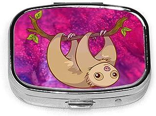 Baby Sloth Fashion Square Pill Box Vitamin Organizer Case