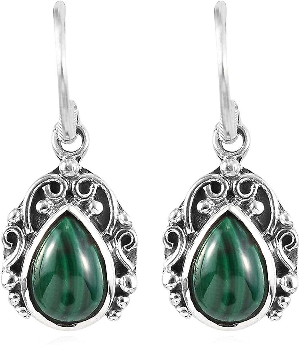 Shop LC Womens Green Malachite Trib Earrings Sales of SALE items from new works Drop Our shop OFFers the best service Dangle Vintage