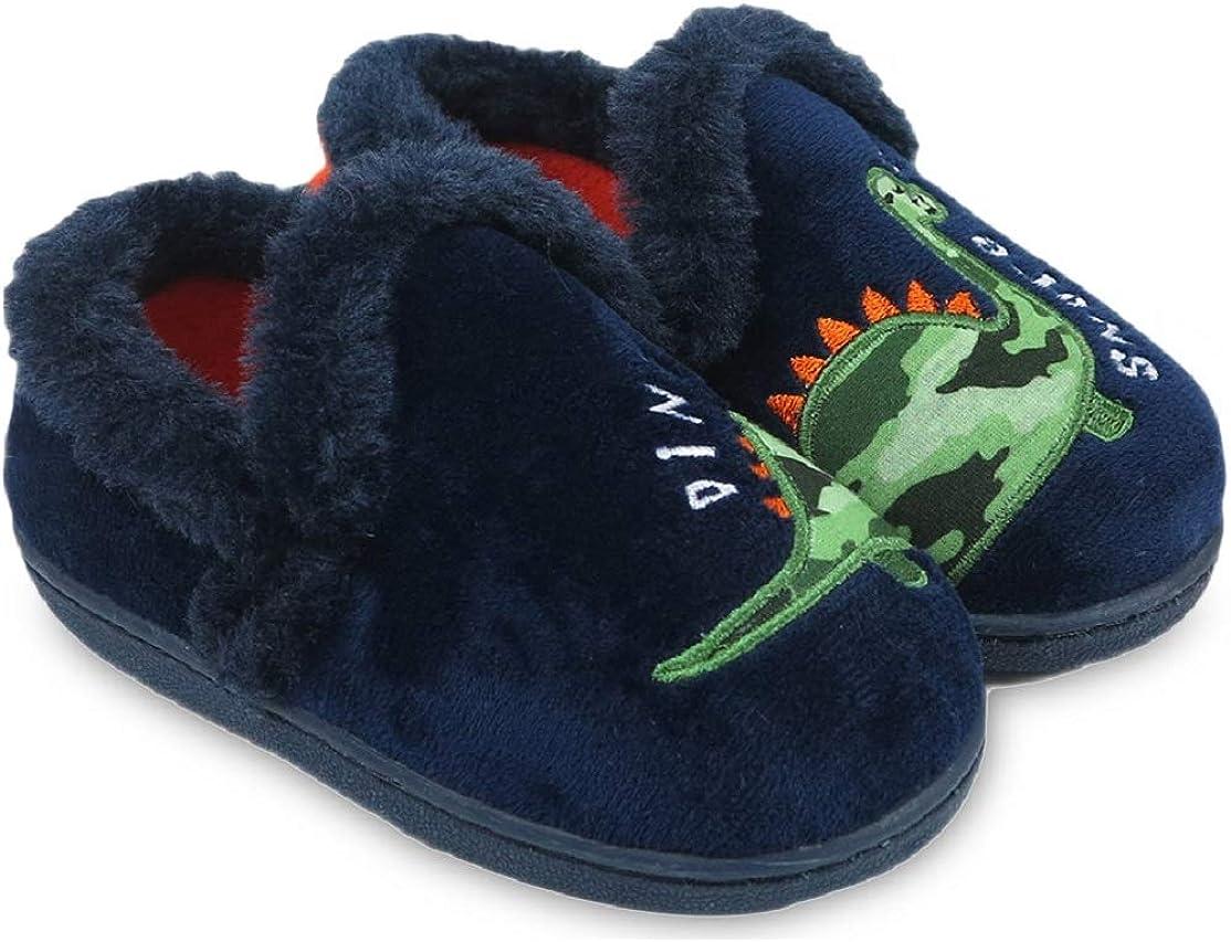 Nation Boys Dino Snore Dinosaur Slippers (Little Boys & Big Boys)