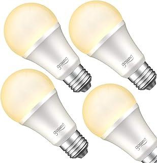 Gosund Smart Light Bulb Works with Alexa, Google Home, Siri, WiFi LED Bulb, E26 Dimmable Bulb A19 No Hub Required 2700K Warm White 8W Lights 75W Equivalent Lighting 4pack
