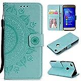 LODROC Cover Huawei P8 Lite 2017 Flip Cover Custodia Protettiva Caso Libro in Pelle PU con Portafoglio, Funzione Supporto, Chiusura Magnetica per Huawei P8Lite 2017 - LOHH0500966 Verde