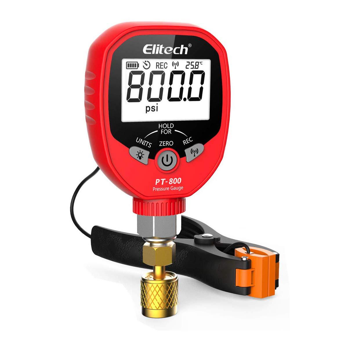Elitech PT-800 Wireless Refrigeration Pressure Gauge Challenge the lowest SALENEW very popular! price HVAC C Pr A