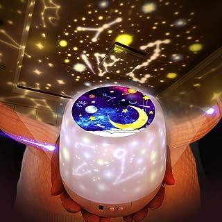 「令和アップグレード版」スタープロジェクターライト Jorftスターナイトライト 常夜灯 星空ライト 家庭用 プラネタリウム雰囲気を作り 星空投影 多色変更可能 360度回転 USB 電池 兼用寝室用 プレゼント/誕生日/祝日ギフトにも最適– 5 セット投影映画