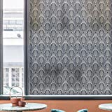 DKTIE Decorative Window Privacy Film Frosted Window Film Stained Glass Window Film Window Clings Static Cling for Home Bedroom Bathroom 35.4In.by 78.7In.