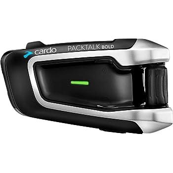 Cardo PTB00001 PACKTALK Bold Motorrad-Kommunikations- und Unterhaltungssystem mit natürlicher Sprachbedienung, Sound von JBL, Connect 2 bis 15 Fahrer (Einzelpackung), Schwarz