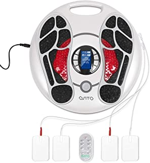 EMS Foot Circulation Device Foot Massager Machine for Neuropathy Therapy-Christmas Health Gift Relieve Pain and Aching of Feet Legs Ankles,Improves Circulation for Parents