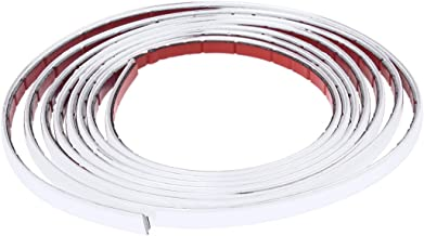 takestop/® Striscia Profilo Decorativa Adesivo Cromato CROMATA Acciaio Lunghezza 15 Metri Altezza 8 MM per Interno Esterno Auto