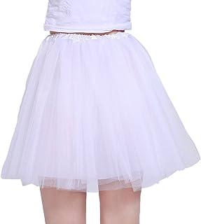 06ee88d35ef iLoveCos Années 80 Fluo Néon Tutu de Ballet Filles Bulle Jupe de Danse Mini  Tulle Jupon