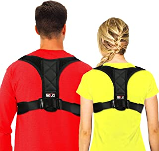 "Posture Corrector for Women and Men Under Clothes, BTUP Light Breathable Back Brace for Neck Shoulder Upper Back Pain Relief, Chest Size: 27"" - 38"""