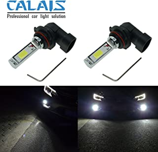 Calais Extremely Bright H10 9140 9145 LED Fog Light Bulbs White 2000 Lumens High Power COB Chips LED Fog Lights Replacements (pack of 2)