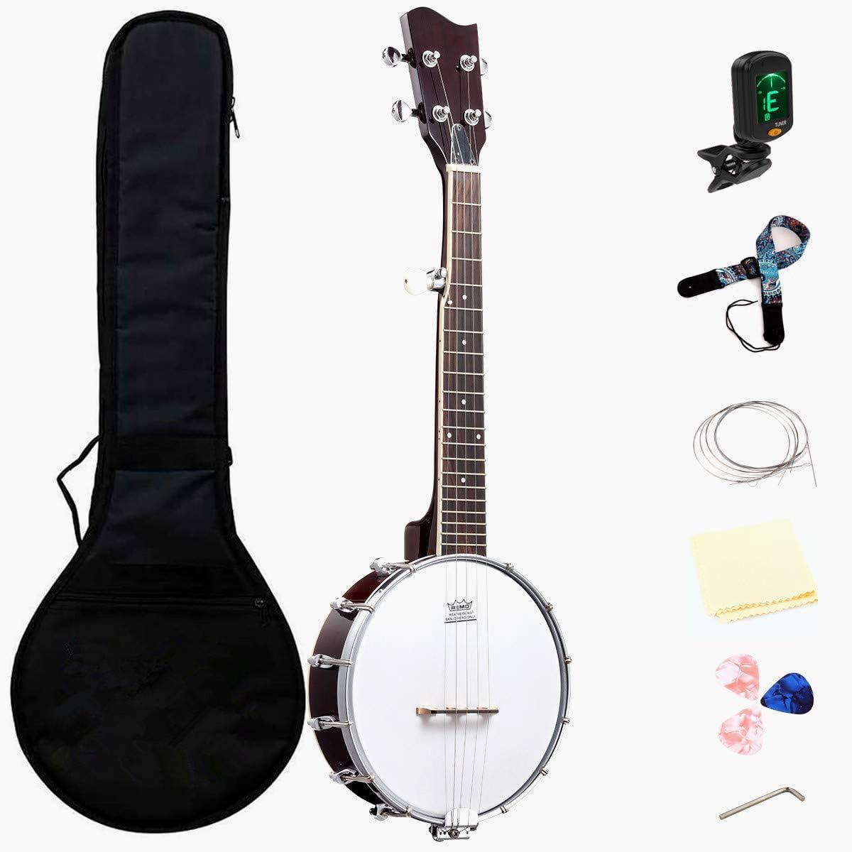 JeuRon 26 Inch Tenor Size Banjo Mini Oklahoma City Mall Music Direct stock discount BeginnerProfessional