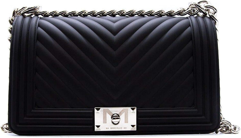 Marc Ellis Women's Flatmblack Black Leather Shoulder Bag