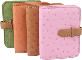 ECOSCO PU Leather Stainless Steel Slim Professional Business Cards Holder Case Assorts (V-4pcs)