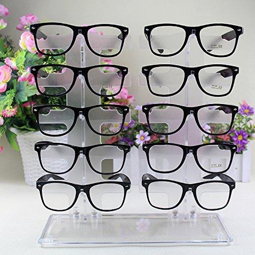 Sonnenbrille Gläser Acryl Kristall klar Display Retail Show Ständer Rack 【 Storm kaufen 】