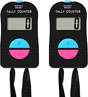 Pgzsy 2 Pack Electronic Clicker Counter/Digital Tally Counter with Lanyard. for Golf Sports/Baseball Fields