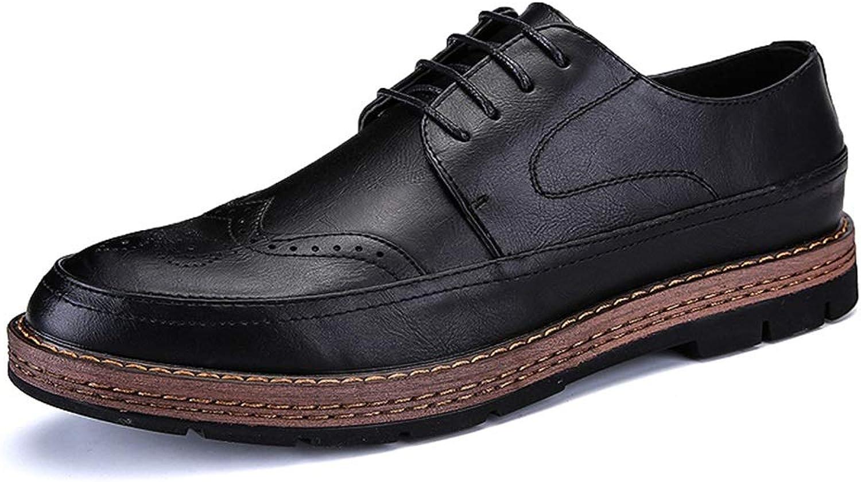 Ofgcfbvxd Lässige Flache Schuhe für Männer Komfortable Outsole Outsole Outsole Classic Oxford-Schnitzerei im britischen Stil Formelle Rutschfeste Schnürschuhe (Farbe   Schwarz, Größe   43 EU)  467714