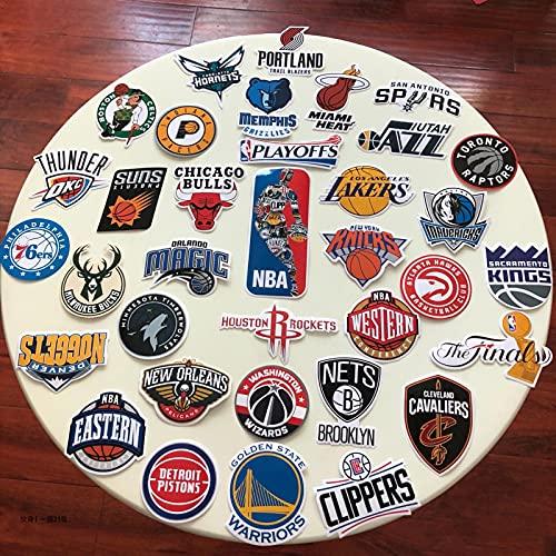 YMSD Houston Rockets Los Angeles Lakers Nba Star Basketball Sticker Laptop Personalizado Coche Monopatín Copa Agua Equipaje PVC Impermeable Pegatinas 50pcs