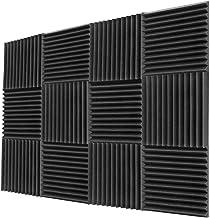 EKUPUZ Acoustic Panels - 12Pcs Acoustic Foam Panels Wedge 2 X 12 X 12 Soundproof Studio Wall Tiles,Studio Foam Wedges - High Density Panels - Soundproof Wedges Easy Install