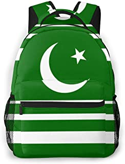 Backpack Originality Pakistan Flag School Backpacks Lightweight Canvas Bookbags Fashion Casual Daypack Durable Water Resistant Student Travel Hiking Camping Outdoor Daypack Women Men
