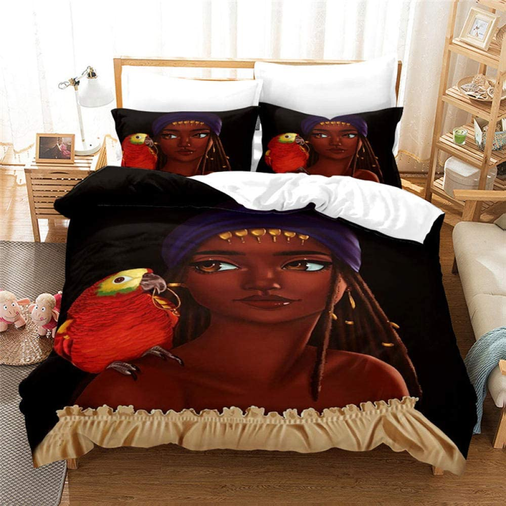 AWDDDER Duvet Cover Free shipping / New Set Double Beautiful Girl 200X200 5 ☆ very popular Animal cm