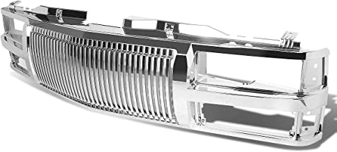 Chrome Front Bumper Vertical Fence Style Grille for Chevy C10 C/K-Series Suburban 1500 2500 Tahoe