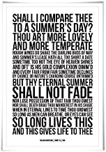 Sonnet 18 William Shakespeare Quote Poster. 60 Colours/3 Sizes. Poem Literary Art Romantic Love Literature