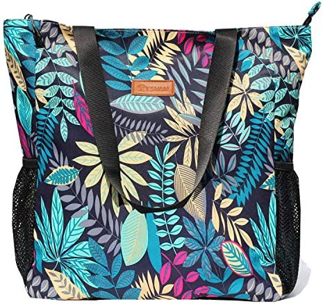 Original Floral Water Resistant Large Tote Bag Shoulder Bag for Gym Beach Travel Daily Bags product image