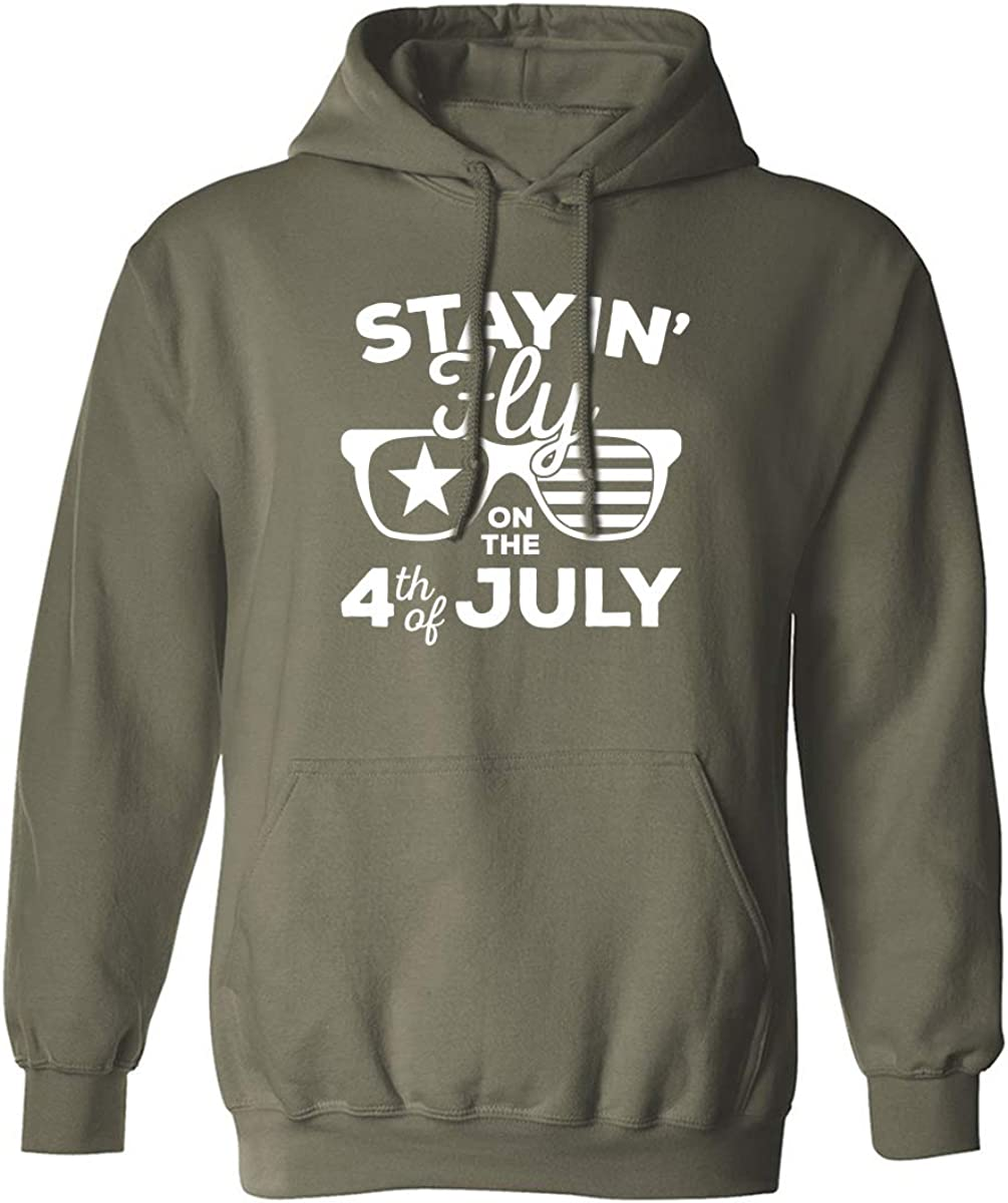 Staying Fly On The 4th Of July Adult Hooded Sweatshirt