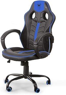 Home Heavenly®- Silla Gaming Spider-S, Silla de Oficina, sillón Gamer ergonómico, Giratorio Asiento Regulable en Altura (Azul)
