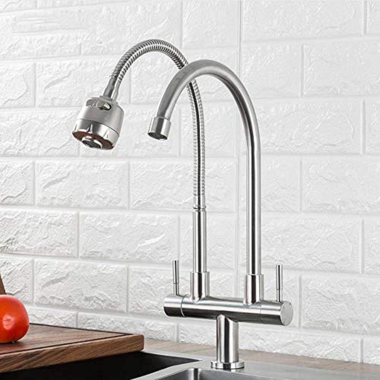 Küchenarmatur Küchenarmatur 304 Edelstahl Doppelgriff Einlochmontage Küchenarmatur Waschbecken Küchenarmatur Einzel Kaltwasserhahn