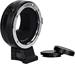 Commlite cm-EF-E HS Canon EF/EF-S Lens to Sony E-Mount High-Speed Electronic AF Lens Adapter for Sony A9 A7RII A6000 A6300 A6500,with CDAF& PDAF Functions (USB Port Firmware Update)