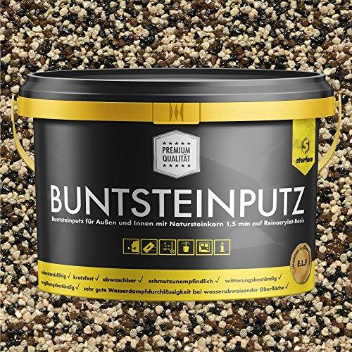 Buntsteinputz schwarz/braun/beige 20kg