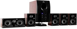 auna Areal Active 525, Home Cinema System, 5.1 Surround Sound System, 95W RMS total, Bass Reflex Subwoofer, Standby functi...