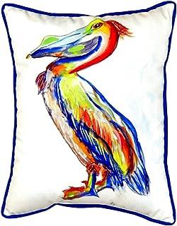 """Betsy Drake SN985A Sylvester Pelican Pillow, 11"""" x14"""""""