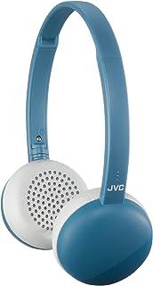 JVC HA-S28BT ワイヤレスヘッドホン 小型・軽量設計/連続11時間再生/マイク付き エーゲブルー HA-S28BT-A