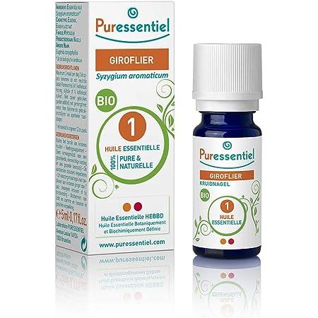 Puressentiel - Huile Essentielle Giroflier - Bio - 100% pure et naturelle - HEBBD - 5 ml