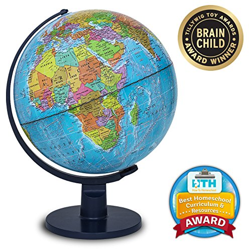 "Waypoint Geographic World Globe for Kids - Scout 12"" Desk Classroom Decorative..."