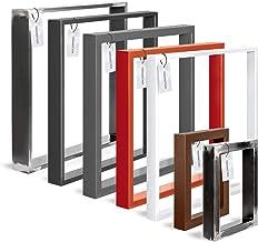 HOLZBRINK Tafelpoot van gesloten profilen 60x20 mm, tafelvoet 70x72 cm, Berg wit, 1 stuk, HLT-01-E-EE-9016
