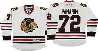 Reebok NHL Mens Chicago Blackhawks Artemi Panarin #72 Premium Jersey, White