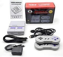 FourPlusOne Retro Game Consoles, AV Output 8-bit Video Games Console Built-in 620 Games, , 2 Pack Classic Handheld USB Con...