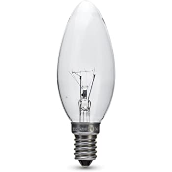 10x 40W Clear E14 Candle Shaped Light Globes Bulbs Lamp Small Screw Incandescent